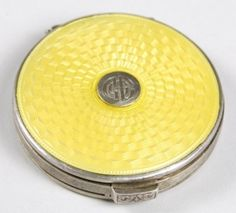 Tiffany & Co. Guilloche Enamel with center Medallion Compact