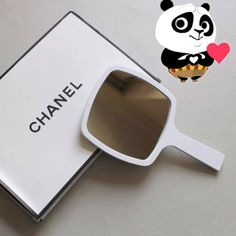 Chanel vanity mirror hand held for dressing table white makeup accessories New
