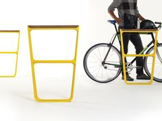 How Do You Design the Perfect Bike Rack or Park Bench? | The bike racks act as shelves for cyclists. Fuseproject | WIRED.com