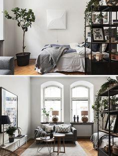 Miegamasis svetainėje - mažų patalpų bėda, kurią meistriškai sprendžia skandinavai. Žiūrėkite pavyzdžius ir mokykitės derinimo paslapčių iš pačių geriausių!
