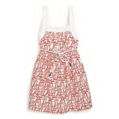 Tommy Hilfiger big girls dress. Adorable sailboats and a square neckline turn this sundress into a standout, styled in soft-washed cotton