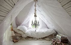 a place to escape and take a nap in during the springtime. read a book.