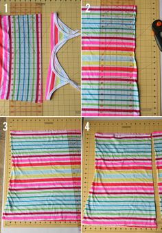 My Sister's Suitcase: $5 Friday : Toddler Maxi Skirt (from tank top) Tutorial
