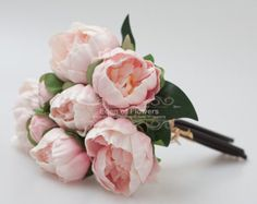 Pink Peony Bouquets Real Touch Flowers for Wedding Bridal Bouquets Wedding Centerpieces Home Decoration