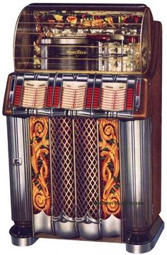 Wurlitzer jukebox Radios, Vintage Games, Vintage Music, Jukebox, Antique Record Player, Whiskey Room, Old Music, Music Music, Rock And Roll