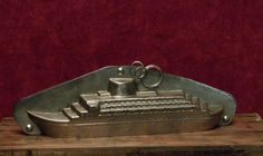 Antique chocolate mold of a ocean liner by Frenchconnection333