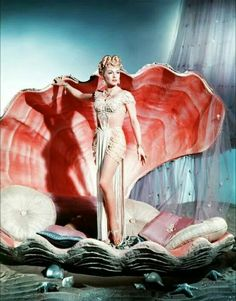 LANA TURNER in a clam shell,of sorts