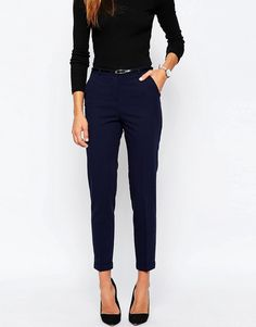 Image 4 of ASOS Cigarette Trousers With Belt Clothing, Shoes & Jewelry : Dresses for Women, Girls & Baby Girls : Women http://amzn.to/2lyOcr6