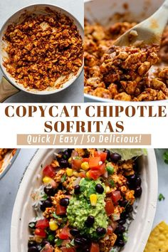 This Chipotle Sofritas Recipe (Copycat) is simple to make at home and tastes SO MUCH like the original! Great for leftovers too. Best Tofu Recipes, My Recipes, Vegetarian Recipes, Vegan Burrito Bowls, Cilantro Lime Rice, Homemade Guacamole, Chipotle Pepper, Plant Based Recipes, Main Meals