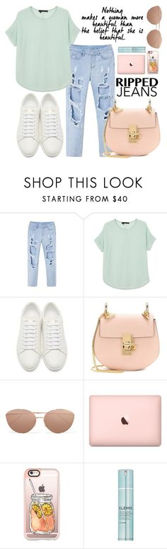 """""""Baby"""" by carolsposito ❤ liked on Polyvore featuring 360 Sweater, Yves Saint Laurent, Chloé, Linda Farrow, Casetify and Elemis"""