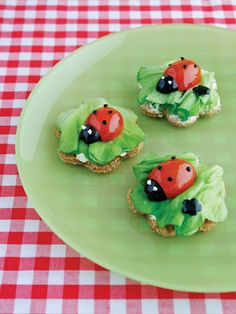 Funky Lunch ladybirds, Mark Northeast made vegetables into cartoon characters to make his children get their five a day