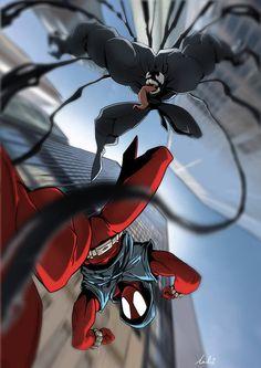 Comic Book Characters, Marvel Characters, Comic Books Art, Comic Art, Amazing Spiderman, All Spiderman, Marvel Art, Marvel Heroes, Scarlet Spider Ben Reilly