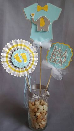 Shower Boy Centerpiece- Its A Boy Centerpiece- Baby Boy Centerpiece-Baby Shower Boy Onesie-Elephant Boy OFF-Footprint Baby Shower Boy Centerpiece Its A Boy Centerpiece Baby Boy Baby Shower Unisex, Baby Boy Shower, Baby Decor, Baby Shower Decorations, Baby Boy Centerpieces, Imprimibles Baby Shower, Mesas Para Baby Shower, Baby Shawer, Baby Shower Winter
