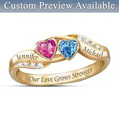 Love's Journey Personalized Ring Bradford Exchange $119