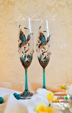 Hand painted flutes
