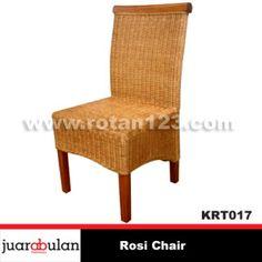 Rosi Chair Kursi Rotan Alami KRT017