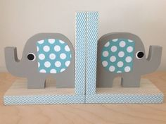 Handcrafted Eco-friendly Elephant Bookends Add a 'Ton' of Personality to a Child's Space