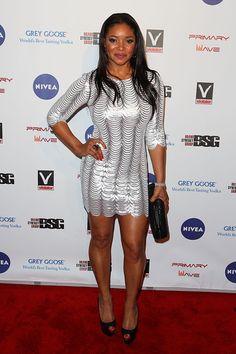 Stunningly Beautiful, Beautiful Women, Tamala Jones, Grey Goose, Black Tops, Black Women, Cold Shoulder Dress, Bodycon Dress, Actresses