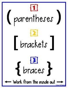 Order of operations, Worksheets and Free math worksheets on Pinterest