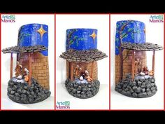 Birth in Tile of Clay, Type Bethlehem Step by Step Tapas, Clay Tiles, Cold Porcelain, African Art, Bird Feeders, Snow Globes, Nativity, Birth, Diy And Crafts