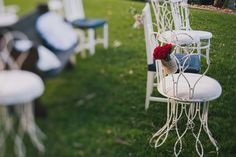 Kate & Scott's Ruby Red Outdoor Wedding Styling By She Designs Photo by John Benavente
