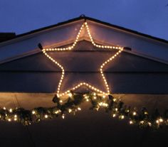 homemade outdoor christmas star google search - Outdoor Christmas Lights Stars