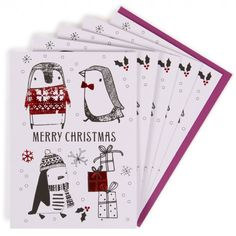 Kids penguins charity Christmas cards - pack of 10