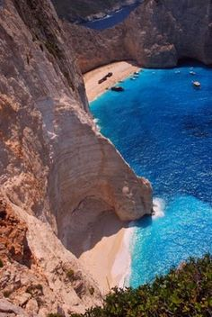 Shipwreck Cove on Zakynthos Island, Greece! Been there done that!