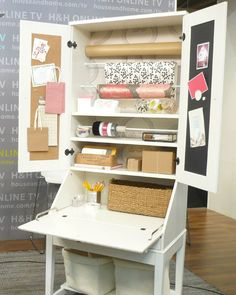 Love the idea of the tension rods for paper and ribbon - could work in my craft closet....