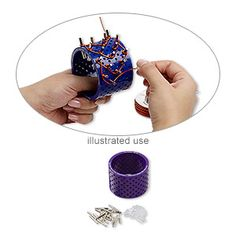 3D bracelet jig, Artistic Wire�, plastic and steel, purple and clear, 2-3/4 x 2 inches with (20) 12x4mm fasteners and (20) 23x3.5mm pegs. Sold per 41-piece set.