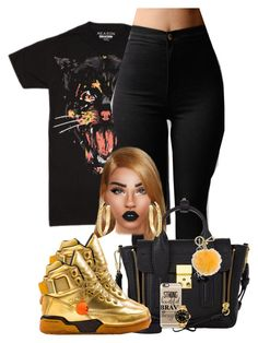 """""""Catvienchy"""" by chiamaka-ikaraoha ❤ liked on Polyvore featuring Lime Crime, 3.1 Phillip Lim, Casetify, Alexander Wang, Rolex, John Hardy and MICHAEL Michael Kors"""