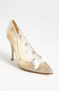 Kate Spade 'lisa' Pump on shopstyle.com.au These are for that girl who loves bows that is romantic yet sweet, sexy and stylish. #bride #pumps #bows #katespade #Nordstrom #bridalwithgeraldo #bridal #weddings #sexy