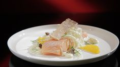 Confit Salmon with Orange and Fennel Salad