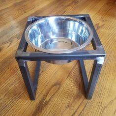 This handcrafted pet feeder elevates your pets food/water to a more comfortable level. It features 1 removable stainless steel bowl of 2 quart capacity. Dog Bowl Stand, Stainless Steel Bowl, Grades, Pet Feeder, Dog Feeding, Metalworking, Dog Stuff, Dog Bowls, Your Pet