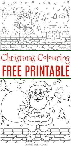 Free Christmas Colouring Page