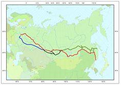 Mapa con las rutas del #Transiberiano  Es increíble ¿no?  #Viajes #BucketList