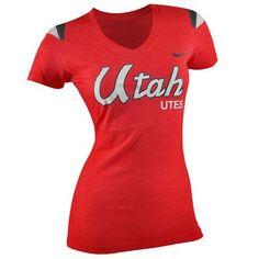 Utah Utes Nike NCAA Women's Touchdown T-Shirt (Red)