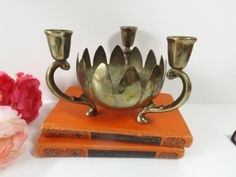 Centerpiece Candle Holder / Lotus Flower Bowl / by HuntWithJoy,