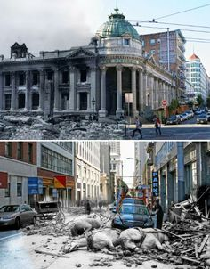 1906 vs. 2012, San Francisco, an overlay of the 1906 earthquake and today...