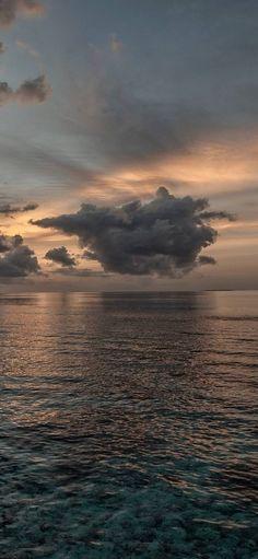 Sunset Sea Sky Ol Landscape - [1080x2340]