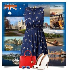 """Visit Australia ..."" by fizzzy ❤ liked on Polyvore featuring MICHAEL Michael Kors, Gianvito Rossi and Illesteva"