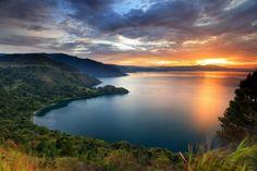 Sunset Lake Toba North Sumatra Indonesia Stock Photo (Edit Now) 385096972 Costa Rica, Lake Toba, Komodo National Park, Seen, Beautiful Sunset, Wonders Of The World, Bali, Sunrise, Scenery