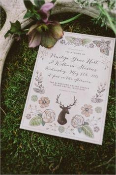 Springtime Woodland Wedding Inspiration — Loverly Weddings