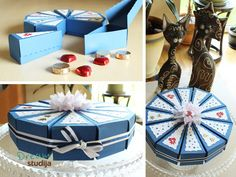 Paper boxes cake. So cool!