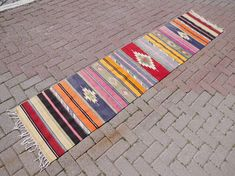 Check out this item in my Etsy shop https://www.etsy.com/listing/509059427/turkish-runner-runner-rug-kilim-runner