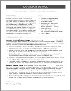 marketing research resume brooklyn resume studio resumes career