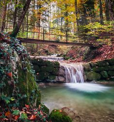Autumn Leaves, Waterfall, National Parks, Nature, Outdoor, Outdoors, Naturaleza, Fall Leaves, Autumn Leaf Color