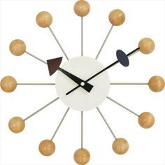 NEW George Nelson Design Ball Clock natural JAPAN #Conposit