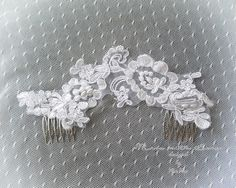 "Wedding comb white lace pearl wedding lace comb , goddess comb decorative hairpiece bridal fascinator wedding hair Jewelry accessories by FALAFALA Wedding comb white lace pearl wedding lace comb , goddess comb decorative hairpiece bridal fascinator wedding hair Jewelry accessories*attached to 2 combs on each end*overall lace width approx 7.5""*""*""*""*""*""*""*""*""*""*""*""*""*""*""*""*""*""*""*""*""*International Shipping - Ships Within 3-5 business daysItem location - Hong Kong Estimated delivery time…"