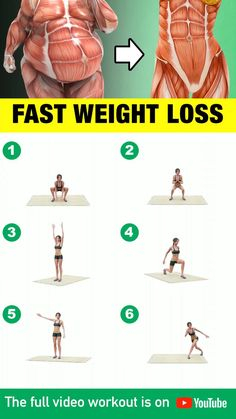 Full Body Gym Workout, Lower Belly Workout, Workout For Flat Stomach, Fitness Workout For Women, Fitness Workouts, At Home Workouts, Morning Ab Workouts, Squat Workout, Easy Arm Workout